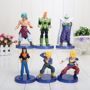 Dragon Ball Z Super Saiyajin 6pçs - Action Figure