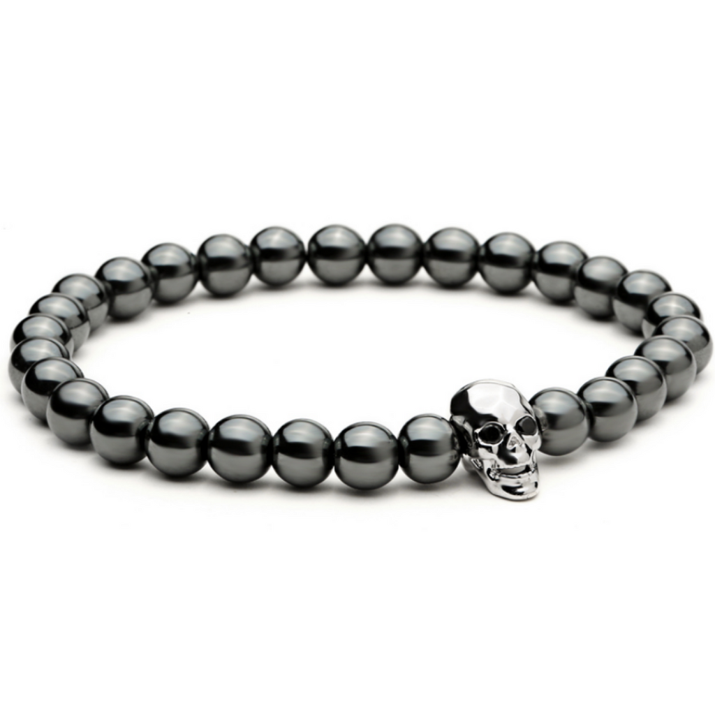Ivory Soho Dries Skull Hematite Beaded Bracelet