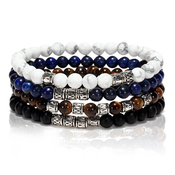 Ivory Soho Matteo Natural Stone Beaded Bracelet Set