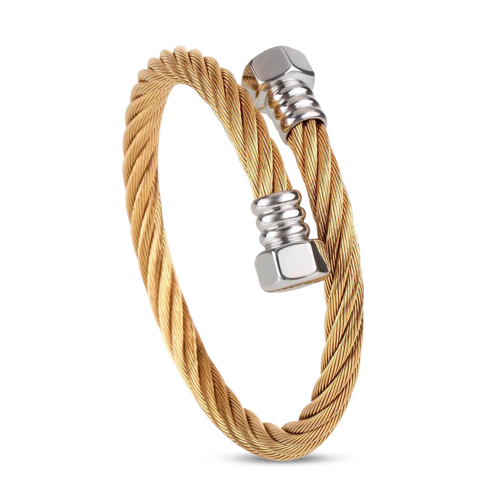 Ivory Soho Grayson Stainless Steel Cable Bracelet