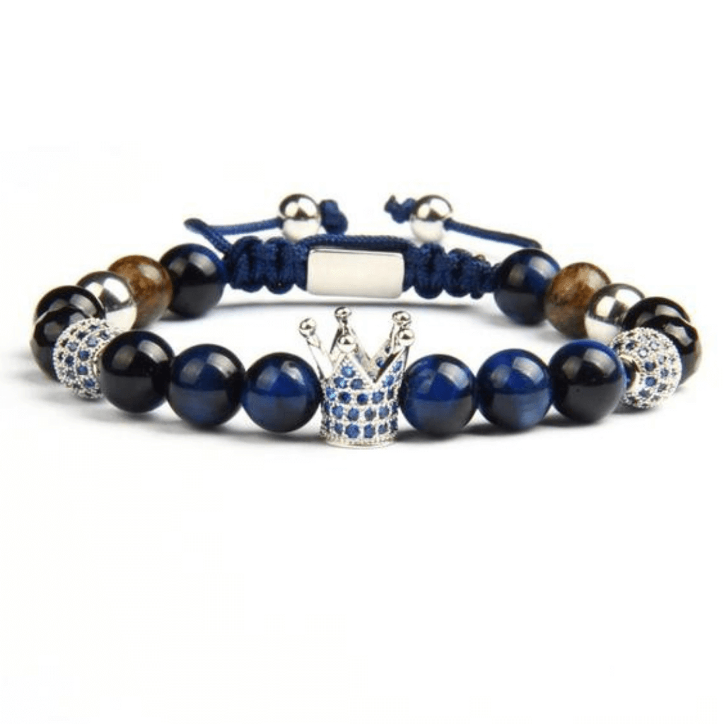 Ivory Soho Monaco Natural Stone Crown Beaded Bracelet