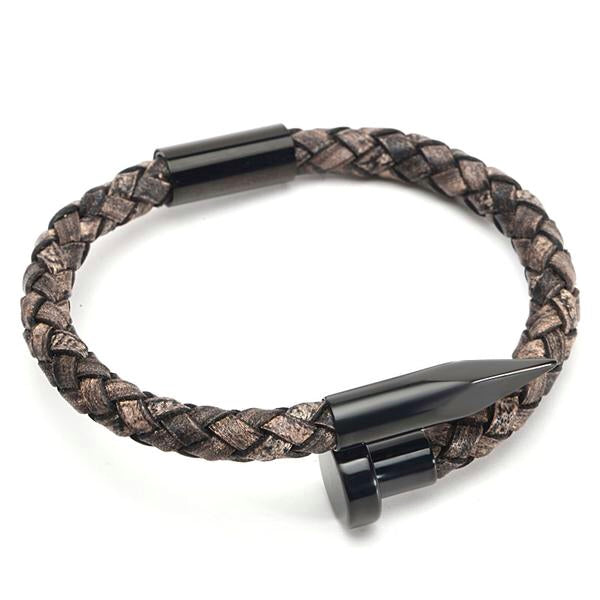 Ivory Soho Tribeca 78 Noir Vintage Leather Bracelet