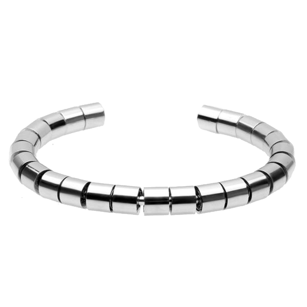 Ivory Soho Icon 08 Steel Bangle Bracelet Cuff
