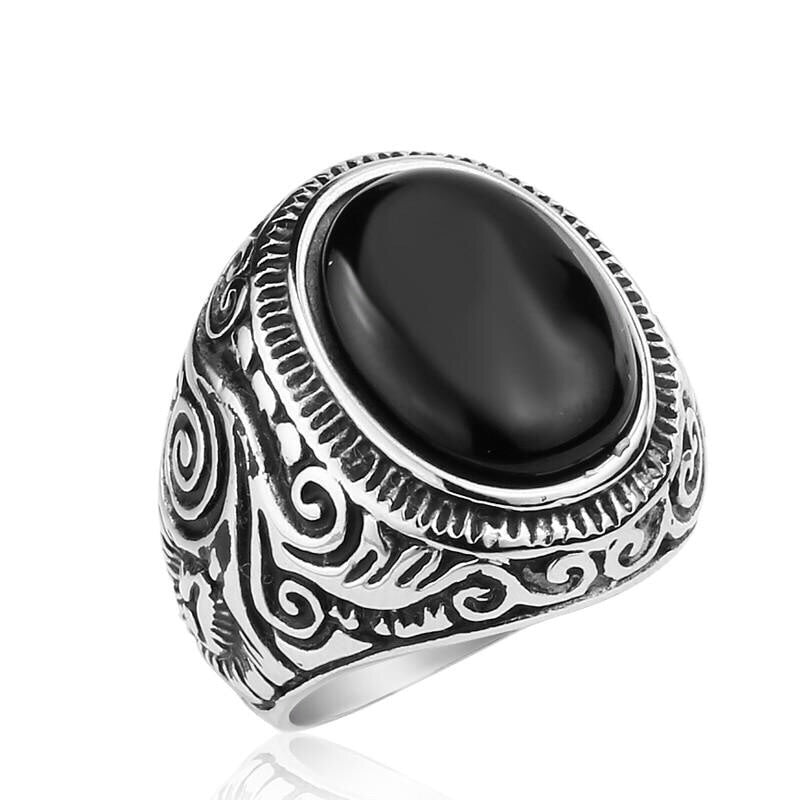 Ivory Soho Adonis Stainless Steel Mens Ring
