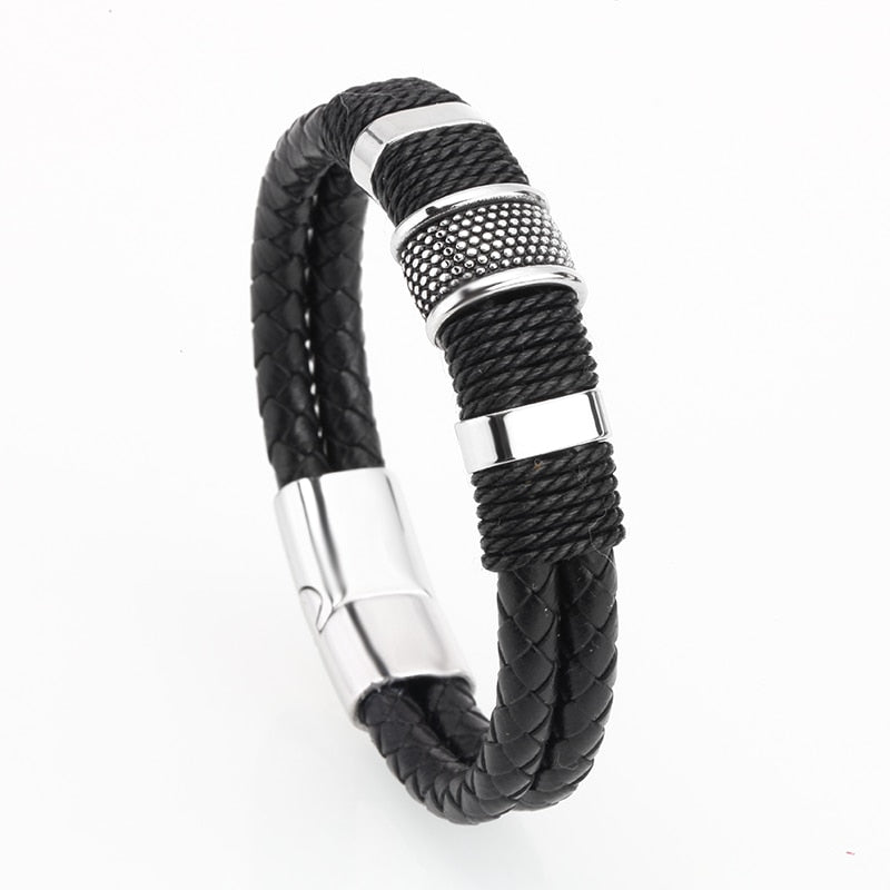 Ivory Soho Jax Men's Leather Bracelet