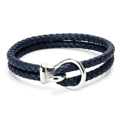 Ivory Soho Chelsea Leather Braided Bracelet