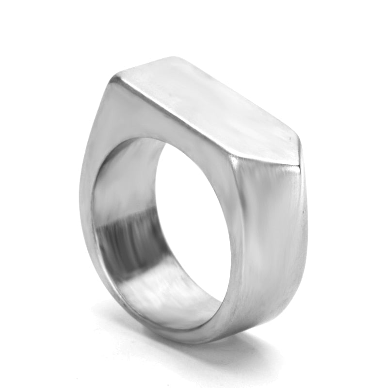 Ivory Soho Jett Stainless Steel Ring Silver