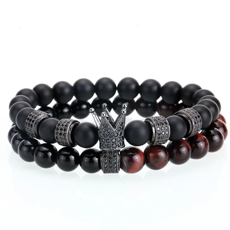Ivory Soho Thierry Black Onyx Crown Beaded Set