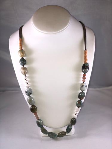 Beaded Leather Necklace