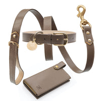 Designer Dog Collar Set - Brown