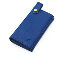 Leather dog bag holders - blue