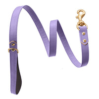 Handmade, leather luxury purple ultra violet dog leash