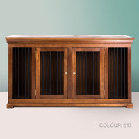 Luxury indoor wooden dog crate furniture credenza double