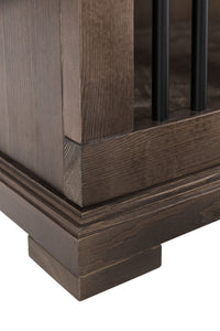 Wooden Credenza Dog Crate Kennel- Double