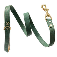 Handmade, leather luxury green dog leash