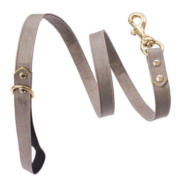 Luxury silver grey dog leash