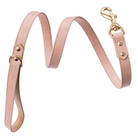 Luxury designer dog collar set - Pastel Pink Nude