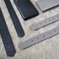Grey, black dog collars