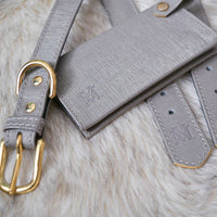 Luxury silver grey dog collar set
