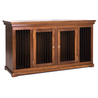 Double den dog crate furniture credenza