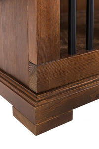 Wooden dog crate funiture credenza