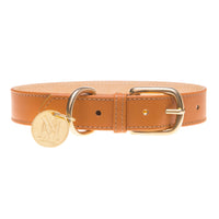 Natural brown luxury dog collar.