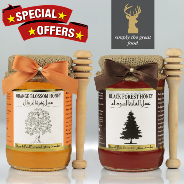 Orange Blossom Honey & Black Forest Honey