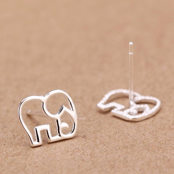 Sterling Silver Mini Elephant Earrings