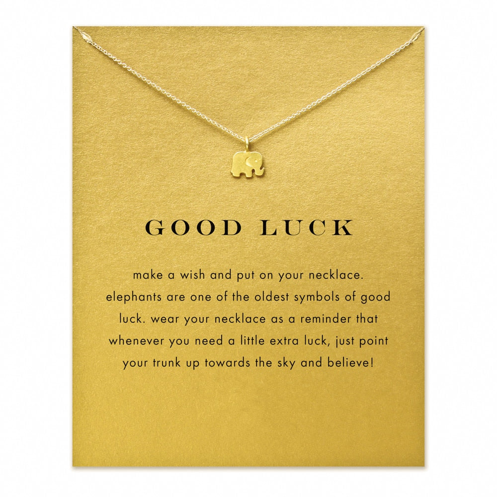 Good Luck Elephant Charm Pendant Necklace