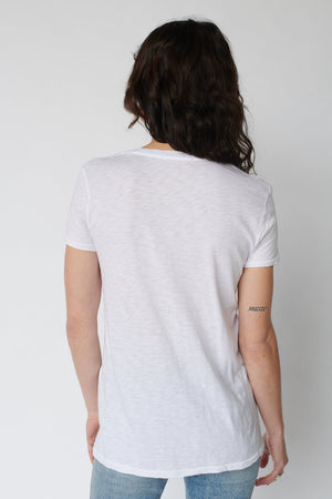 Stateside Supima Slub Short Sleeve V- Neck T-Shirt