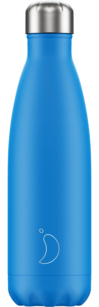 500ml Chilly's Bottles - Neon / Blue