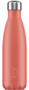 500ml Chilly's Bottle - Pastel / Coral