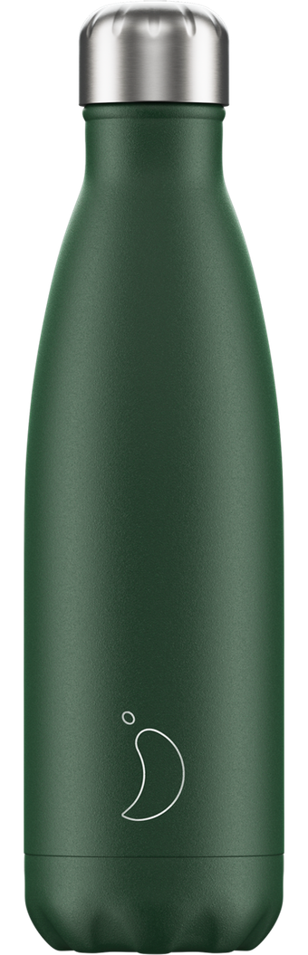 500ml Chilly's Bottle - Matte / Green
