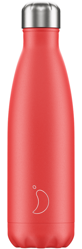 500ml Chilly's Bottle - SUMMER SOLID STRAWBERRY