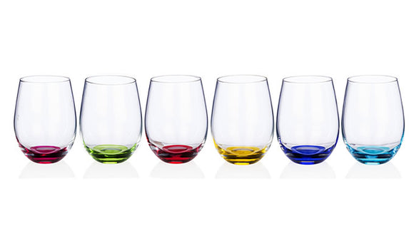 Newgrange - Rainbow Party Stemless Wine Set  6 540cc