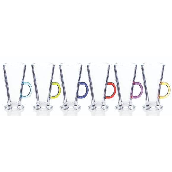 Newgrange - Rainbow Latte Set  6 glasses