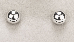 Newgrange - Round Silver Stud Earrings