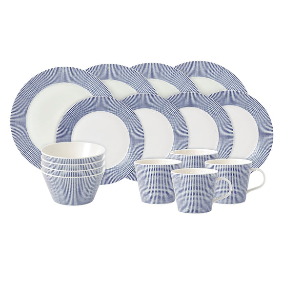 Pacific Dots 16 Piece Dinner Set