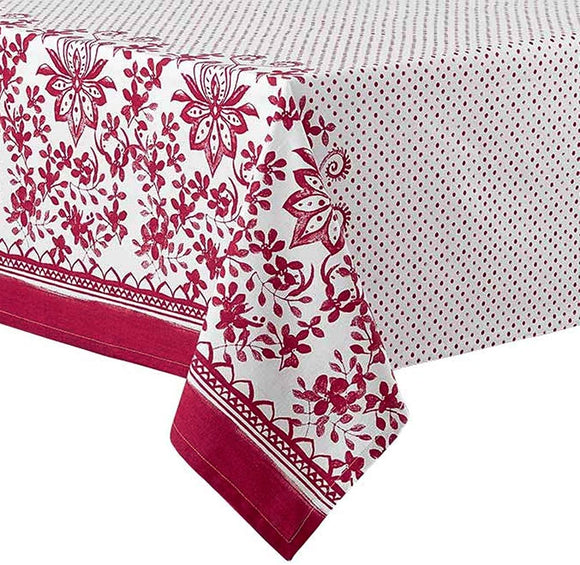 Ladelle - Watercolour Floral Red Tablecloth 1.5mx2.25m