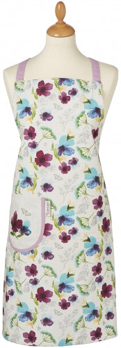 Cooksmart -  Chatsworth Floral Design 100% Cotton Apron with Front Pocket