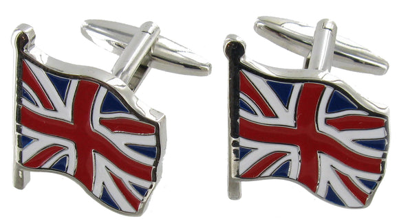 Cufflinks Flying Union Flag