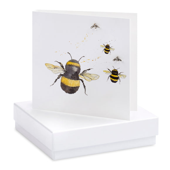 Bumble Bees - Earrings Card