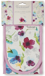 Chatsworth Floral Design Insulated Double Oven Gloves