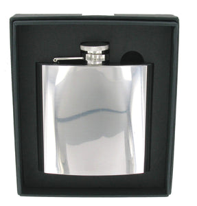 6oz Polished Steel Flask