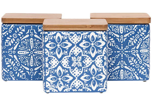 Ladelle Arise Blue Assorted Canister