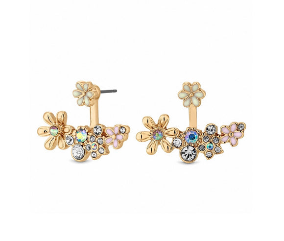 Lipsy gold plated earrings 2 in 1