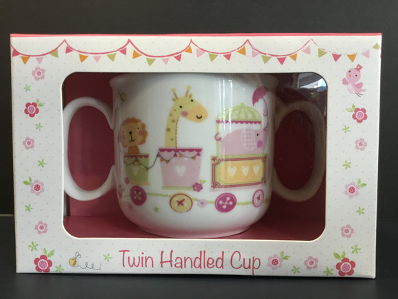 Twin Handled Cup Pink