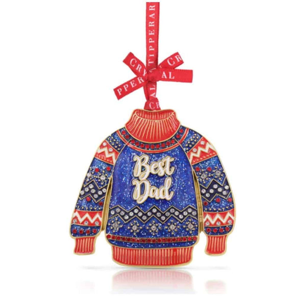 Tipperary Crystal Best Dad Christmas Tree Decoration