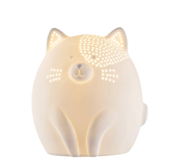 Belleek Kitty Cat Luminaire