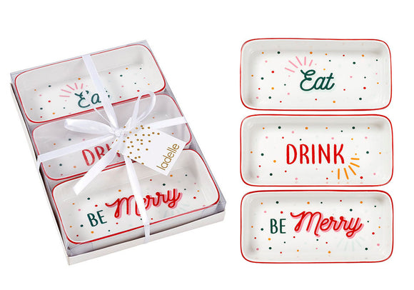 Cheer Christmas 3pk Bowl Set